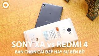 So sánh Sony XA và Redmi 4 - Bạn chọn cái đẹp hay sự bền bỉ?