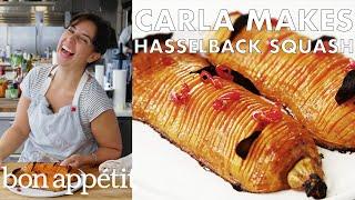 Carla Makes Hasselback Butternut Squash   From the Test Kitchen   Bon Appétit