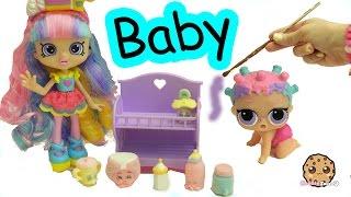DIY Baby Shopkins Shoppies Rainbow Kate - LOL Surprise Painting Craft Video