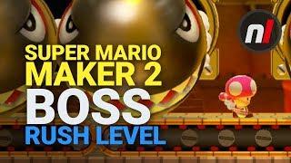 3D World Boss Rush Level | Super Mario Maker 2 Nintendo Switch