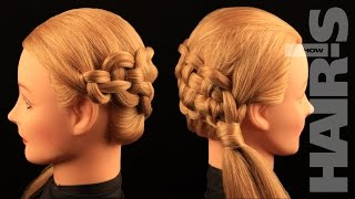 How to do a zipper braid hairstyle - video tutorial (How-to) Hair's How