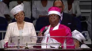 Our Sainted International Supv. Mother Rivers Closing Out Women's Day 109th Holy Convocation!