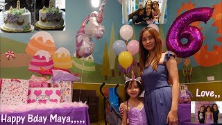 Children's Birthday Party: A Unicorn Princess Birthday Party Theme. Family Indoor Playground