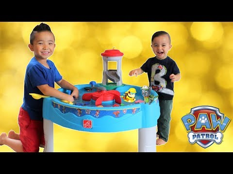 Paw Patrol WATER TABLE Unboxing Fun With Ckn Toys