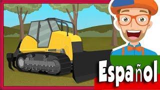 Bulldozer de Blippi Español | Camiones de Construcción para Niños | Canciones Infantiles