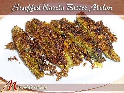 Stuffed Karela (Bitter Melon) Recipe by Manjula