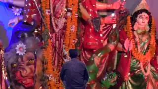 Durga Pooja Bhadohi A boy Fly in Air