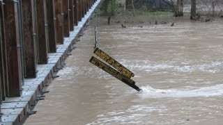 Turkey Run State Park Suspension Bridge Sign Found On Wabash River Afther Flood