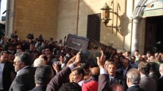 تشييع جثمان الصحفى الكبير محمد حسنين هيكل من مسجد الحسين