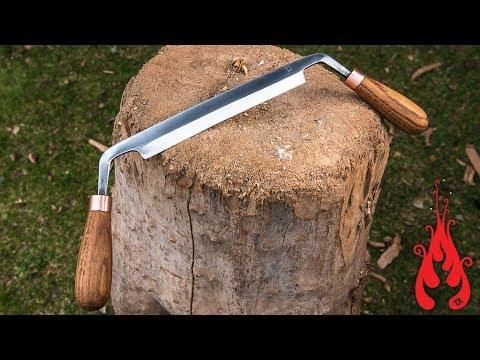 Blacksmithing Forging a drawknife