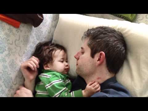 Baby Michael -- sleeping with daddy