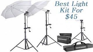 Neewer 600W 5500K Photo Studio Day Light Umbrella Continuous Lighting Kit Hack