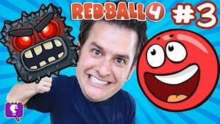 Red Ball 4: Into the Caves! Video GAME iPhone App Game PART 3 HobbyKidsTV