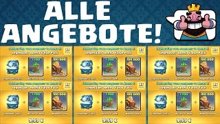 ALLE SONDERANGEBOTE KAUFEN!    CLASH ROYALE    Let's Play CR [Deutsch ...