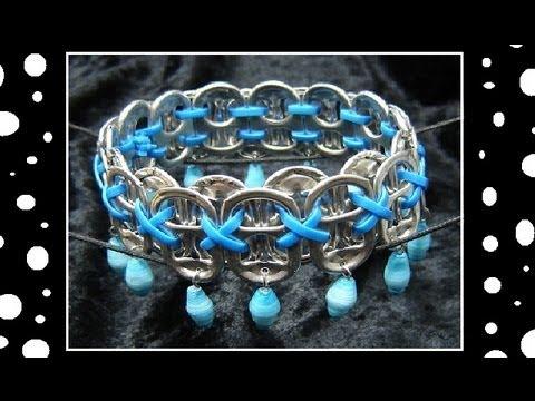 ♻ How To Make Recycled Pop Tab Jewelry Craft Tutorial 13 Soda Tab Bracelet Tutorial