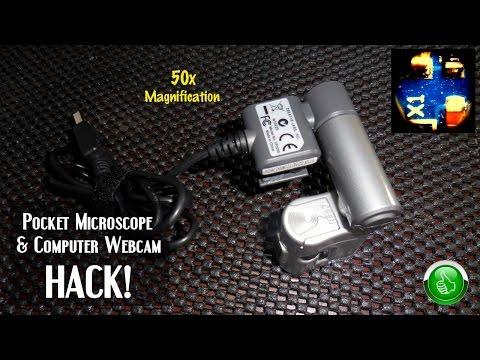 Pocket Microscope & Computer Webcam HACK