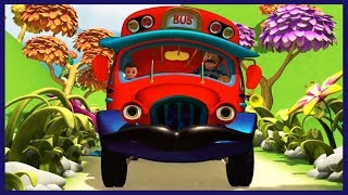 Wheels on the Bus | Red Bus Song | Nursery Rhymes for Children | Kids Songs by KidRhymes