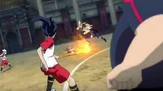 Inazuma Eleven GO vs Danball Senki W the Movie  Techniques Moment 2  HD