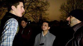 P1 - In Biblical Darkness Mansur vs Christian   Speakers Corner   Hyde Park