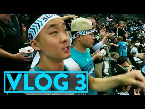 OUR FIRST NBA PLAYOFF GAME FB VLOG 3