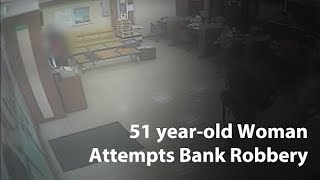 51 year-old woman attempts bank robbery with nail gun