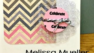 #1 Go Green! Embossing Upcycled Packaging Materials - Mondays with Melissa