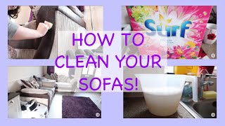 HOW TO CLEAN YOUR FABRIC SOFAS  RANDOM TUESDAY!