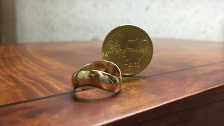 How to make a ring out of a coin