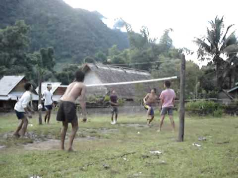 Crazy Volleyball in Laos