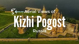 Aerial Views of Kizhi Pogost on Kizhi Island Unesco World Heritage Site Russia With a DJI Drone