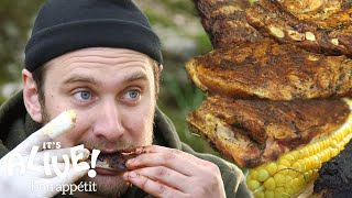 Brad Makes Campfire Ribs | It