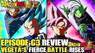Dragon Ball Super - Episode 63 Review! Do Not Disgrace The Saiyan Cells! Vegetas Fierce Battle Rises