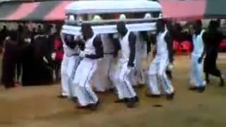 Ghana  pall-bearers in an Azonto mood