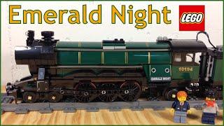 LEGO Train 10194 Emerald Night Steam Locomotive and Passenger Car - review
