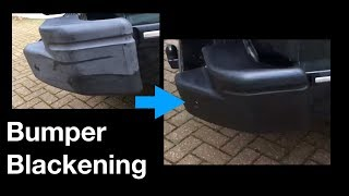 How to Blacken Car Bumpers - A Surprisingly Good Way