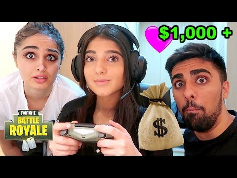 I Gave My Little Sister 1000 For Every Kill In Fortnite Battle Royale