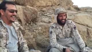 ابطال الجيش السعودي مبسوطين ع الاخر في الحد الجنوبي
