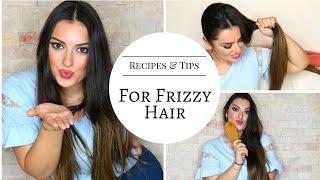 """العناية بالشعر التالف والمجعد و""""المنوبر"""" Recipes and tips for frizzy hair  l"""