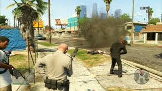GTA V - Officer Trevor Cleaning up the Hood