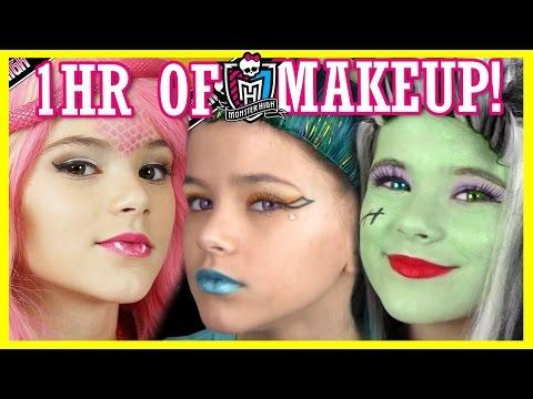 1 hour of MONSTER HIGH DOLL MAKEUP TUTORIALS! | Costume, Halloween, or Cosplay!  |  KITTIESMAMA
