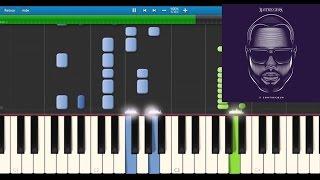 Maître Gims - Loin (Ft Dany Synthé) - Karaoke / Piano synthesia tutorial (+ lyrics & Sheet music)