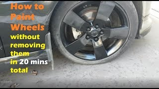 How To Paint Wheels without removing them. Quick - Holden VE Ute