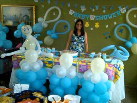 Decoracion Baby Shower Baby Shower Balloon Decoration Playithub