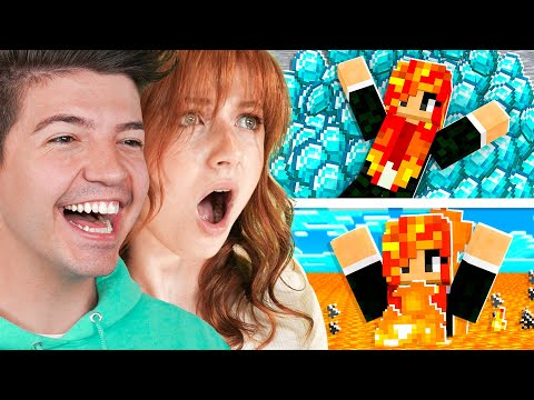 Little Sister vs EXTREME Minecraft Would You Rather