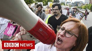 The US abortion battle explained in three minutes - BBC News