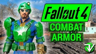 FALLOUT 4: How To Get FULL SET of COMBAT ARMOR! (Level 10 Early Game Locations)