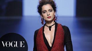 Kangana Ranaut Ramp Walks for Tarun Tahiliani | Lakmé Fashion Week W/F 2016 - Opening | VOGUE India