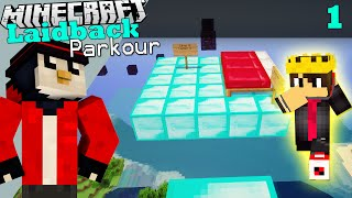 Minecraft Laidback Parkour | PARKOUR pe Diamond Blocks?! #1 w/ Andy