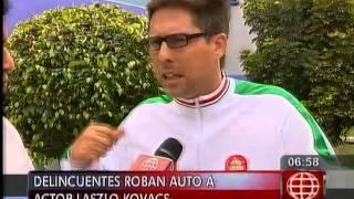 América Noticias - 270414 - Actor Laszlo Kovacs fue víctima de robo