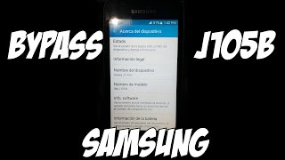 Quitar cuenta google samsung j105b